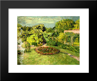 Massif Near The House: Custom Black Wood Framed Art Print by Edouard Vuillard