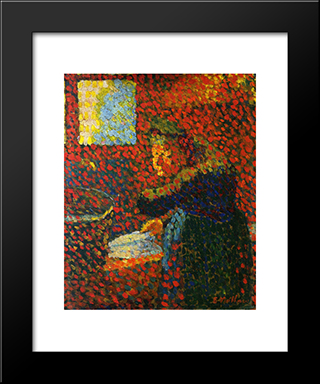 My Grandmother: Modern Black Framed Art Print by Edouard Vuillard