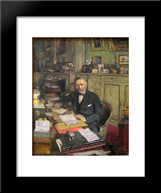 Portrait Of Louis Loucheur: Modern Black Framed Art Print by Edouard Vuillard