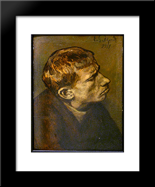 Portrait Of A Man: Modern Black Framed Art Print by Eduard von Gebhardt