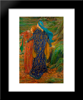 Dans La Crainte: Modern Black Framed Art Print by Edwin Austin Abbey