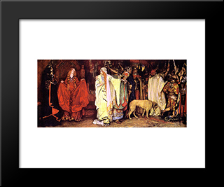 King Lear Cordelia'S Farewell: Modern Black Framed Art Print by Edwin Austin Abbey