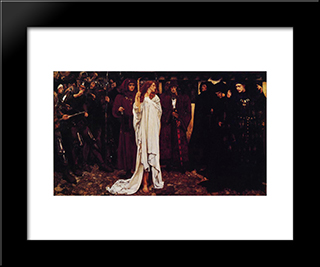 La Penitence D'Eleanor, Duchesse De Glouster: Modern Black Framed Art Print by Edwin Austin Abbey
