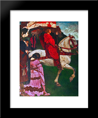 La Quete Et Accomplissement Du Saint-Graal: Modern Black Framed Art Print by Edwin Austin Abbey