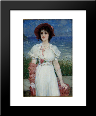 L'Ideal Victorien: Modern Black Framed Art Print by Edwin Austin Abbey
