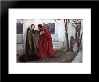 O Mistress Mine, Where Are You Roaming...: Modern Black Framed Art Print by Edwin Austin Abbey