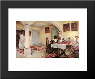 Pot-Pourri: Modern Black Framed Art Print by Edwin Austin Abbey