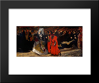 Richard, Duke Of Gloucester, And The Lady Anne: Modern Black Framed Art Print by Edwin Austin Abbey