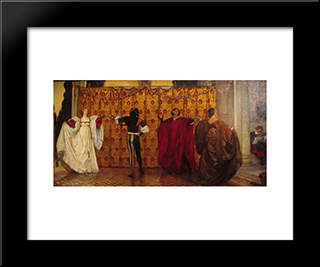 Une Pavane: Modern Black Framed Art Print by Edwin Austin Abbey
