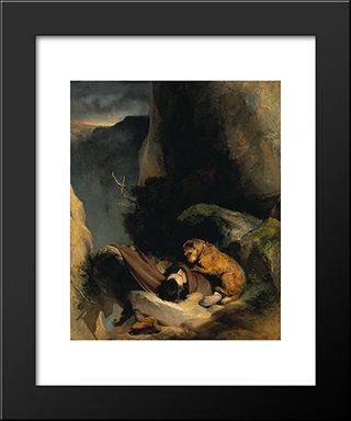 Attachment: Modern Black Framed Art Print by Edwin Henry Landseer