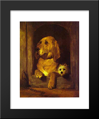 Dignity And Impudence: Modern Black Framed Art Print by Edwin Henry Landseer