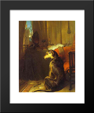 High Life: Modern Black Framed Art Print by Edwin Henry Landseer
