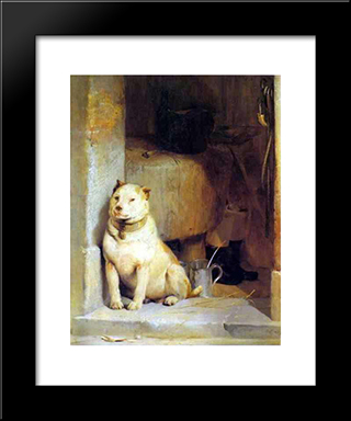 Low Life: Modern Black Framed Art Print by Edwin Henry Landseer