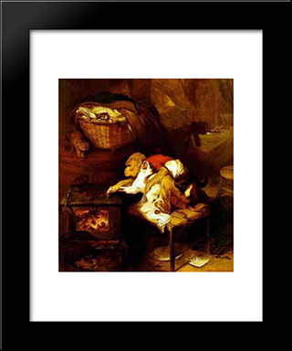 The Cat'S Paw: Modern Black Framed Art Print by Edwin Henry Landseer