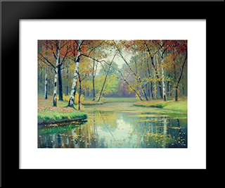 Autumn: Modern Black Framed Art Print by Efim Volkov
