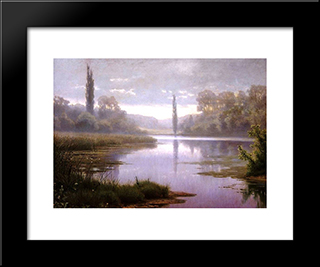 Cobweb Morning: Modern Black Framed Art Print by Efim Volkov