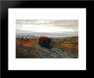 During Haying: Modern Black Framed Art Print by Efim Volkov
