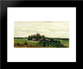 Farm: Modern Black Framed Art Print by Efim Volkov