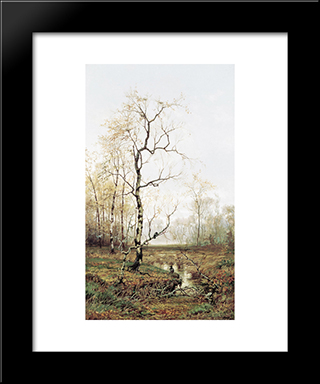 In Forest After Spring: Modern Black Framed Art Print by Efim Volkov