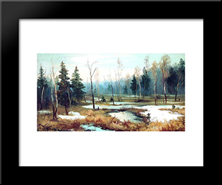 In Late Winter: Modern Black Framed Art Print by Efim Volkov