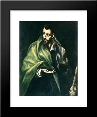 Apostle St. James The Greater: Modern Black Framed Art Print by El Greco