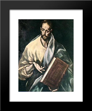 Apostle St. James The Less: Modern Black Framed Art Print by El Greco