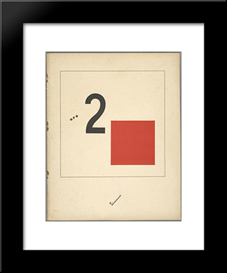 Book Cover For 'Suprematic Tale About Two Squares': Modern Black Framed Art Print by El Lissitzky