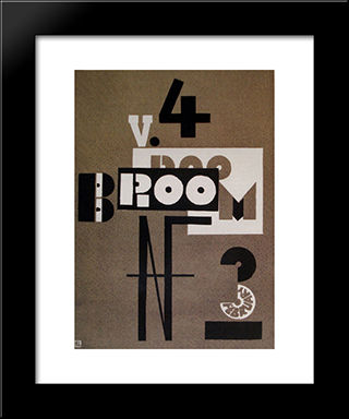Cover Of Broom: Modern Black Framed Art Print by El Lissitzky