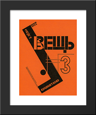 Cover Of The Avant Guard Periodical 'Vyeshch': Modern Black Framed Art Print by El Lissitzky