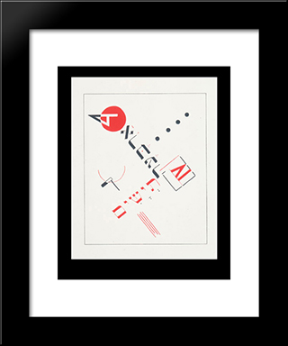 Cover Of The Book 'Teyashim' ('Four Billy Goats'): Modern Black Framed Art Print by El Lissitzky