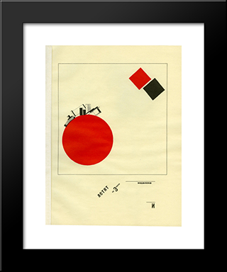 Flying To Earth From A Distance: Modern Black Framed Art Print by El Lissitzky