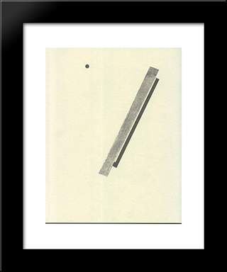 Illustration To 'Suprematic Tale About Two Squares': Modern Black Framed Art Print by El Lissitzky