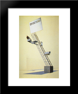 Lenin Tribune: Modern Black Framed Art Print by El Lissitzky