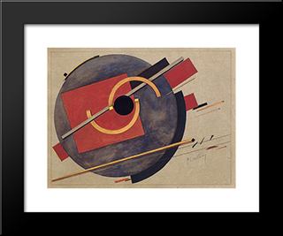 Preliminary Sketch For A Poster: Modern Black Framed Art Print by El Lissitzky