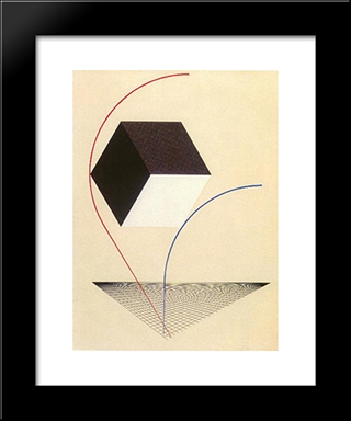 Proun: Modern Black Framed Art Print by El Lissitzky