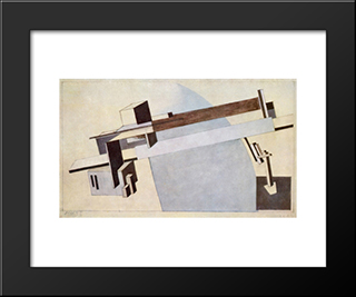 Proun 1 A, Bridge I: Modern Black Framed Art Print by El Lissitzky