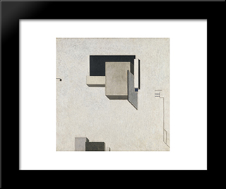 Proun 1 C: Modern Black Framed Art Print by El Lissitzky