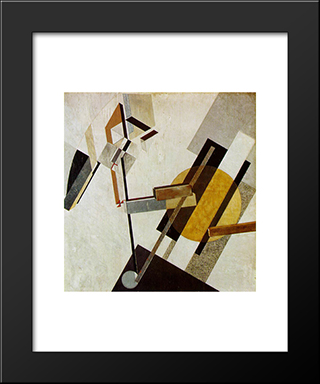Proun 19D: Modern Black Framed Art Print by El Lissitzky