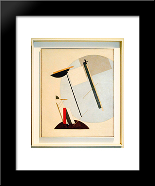 Proun 3 A: Modern Black Framed Art Print by El Lissitzky
