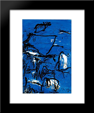 Cuma: Modern Black Framed Art Print by Emil Schumacher