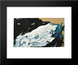 Ge - 21: Modern Black Framed Art Print by Emil Schumacher