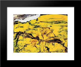 Gorim Ii: Modern Black Framed Art Print by Emil Schumacher