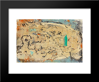 Gruner Akzent: Modern Black Framed Art Print by Emil Schumacher