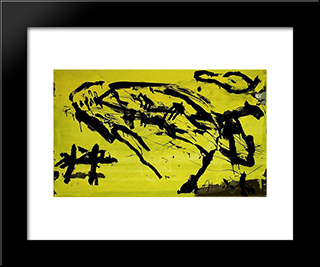 Hirschkuh: Modern Black Framed Art Print by Emil Schumacher