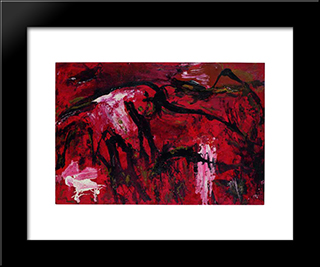Libusa: Modern Black Framed Art Print by Emil Schumacher