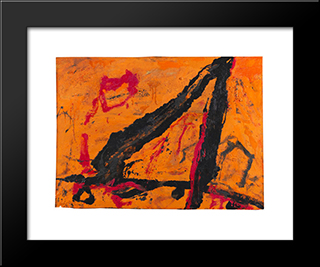 Timra: Modern Black Framed Art Print by Emil Schumacher
