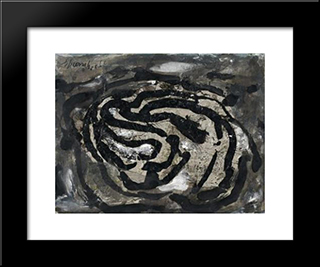 Untitled (El X): Modern Black Framed Art Print by Emil Schumacher