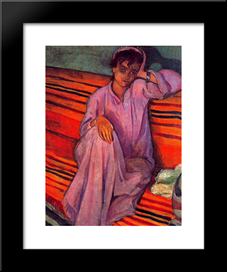 African Woman: Modern Black Framed Art Print by Emile Bernard