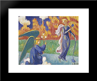 Annunciation: Modern Black Framed Art Print by Emile Bernard