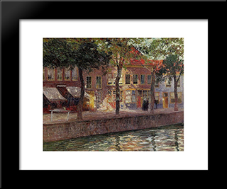 Canal In Zeeland: Modern Black Framed Art Print by Emile Claus